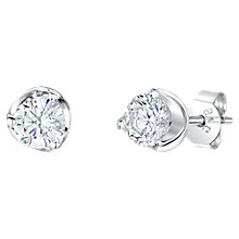 Buy Jools by Jenny Brown Cubic Zirconia Nestled Stud Earrings, Silver Online at johnlewis.com