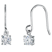 Buy Jools by Jenny Brown Cubic Zirconia Single Drop Earrings, Silver Online at johnlewis.com