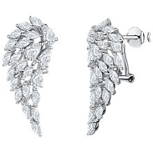 Buy Jools by Jenny Brown Cubic Zirconia Angel Wing Drop Earrings, Silver Online at johnlewis.com