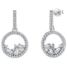 Buy Jools by Jenny Brown Cubic Zirconia Gathered Gems Drop Earrings, Silver Online at johnlewis.com