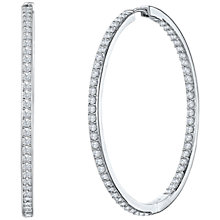 Buy Jools by Jenny Brown Cubic Zirconia Hoop Earrings, Silver Online at johnlewis.com
