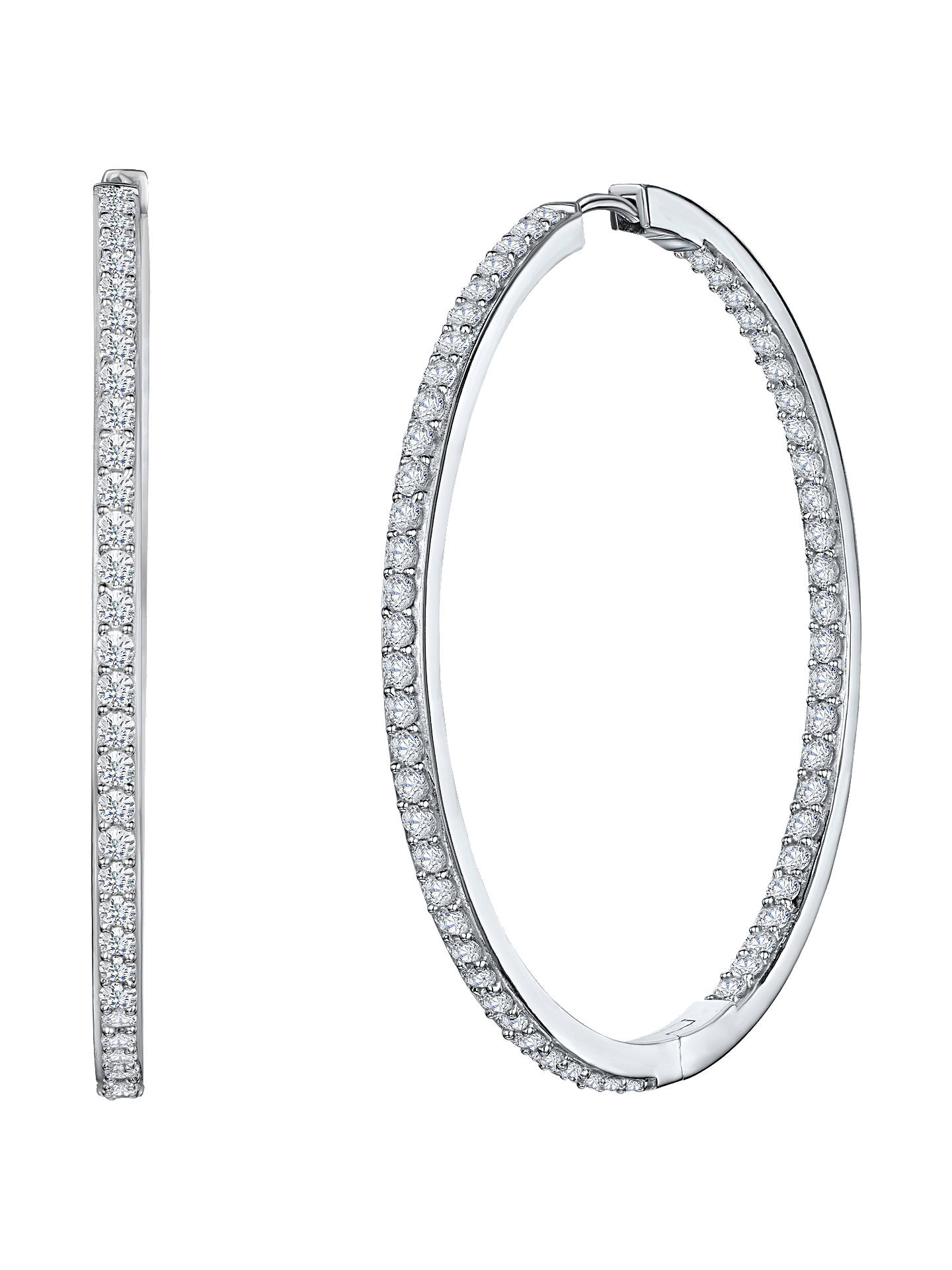 Jools By Jenny Brown Cubic Zirconia Hoop Earrings Silver Online At Johnlewis
