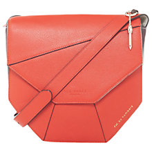 Buy Ted Baker Colour By Numbers Limetta Leather Across Body Bag, Red Online at johnlewis.com
