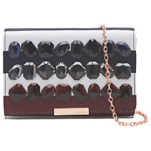 Buy Ted Baker Isabela Rowing Stripe Clutch Bag, Navy Online at johnlewis.com