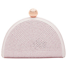 Buy Ted Baker Jezebel Crystal Embellished Clutch Bag, Light Pink Online at johnlewis.com
