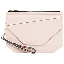 Buy Ted Baker Colour By Numbers Cassis Leather Clutch Bag Online at johnlewis.com