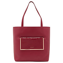 Buy Ted Baker Ivalyn Leather Shopper Bag Online at johnlewis.com