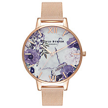 Buy Olivia Burton OB16MF06 Women's Marble Florals Watch, Rose Gold/Lilac Online at johnlewis.com