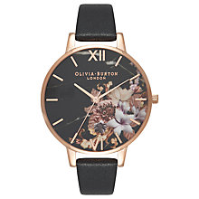 Buy Olivia Burton OB16CS01 Women's Cut And Sew Watch, Black/Gold Online at johnlewis.com