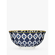 Buy John Lewis Fusion Ikat Ramen Bowl, Dia.16.5cm, Dark Blue Online at johnlewis.com