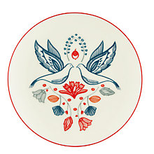 Buy John Lewis Folklore Side Plate, Neutral/Multi, Dia.20.5cm Online at johnlewis.com