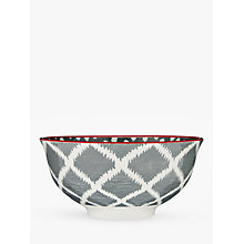 Buy John Lewis Fusion Ikat Ramen Bowl, Dia.16.5cm, Grey Online at johnlewis.com