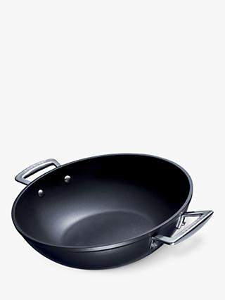Le Creuset Toughened Non-Stick Wok, Satin Black, 32cm