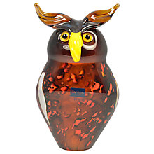 Buy Svaja Oswald Owl Glass Ornament, Brown Online at johnlewis.com