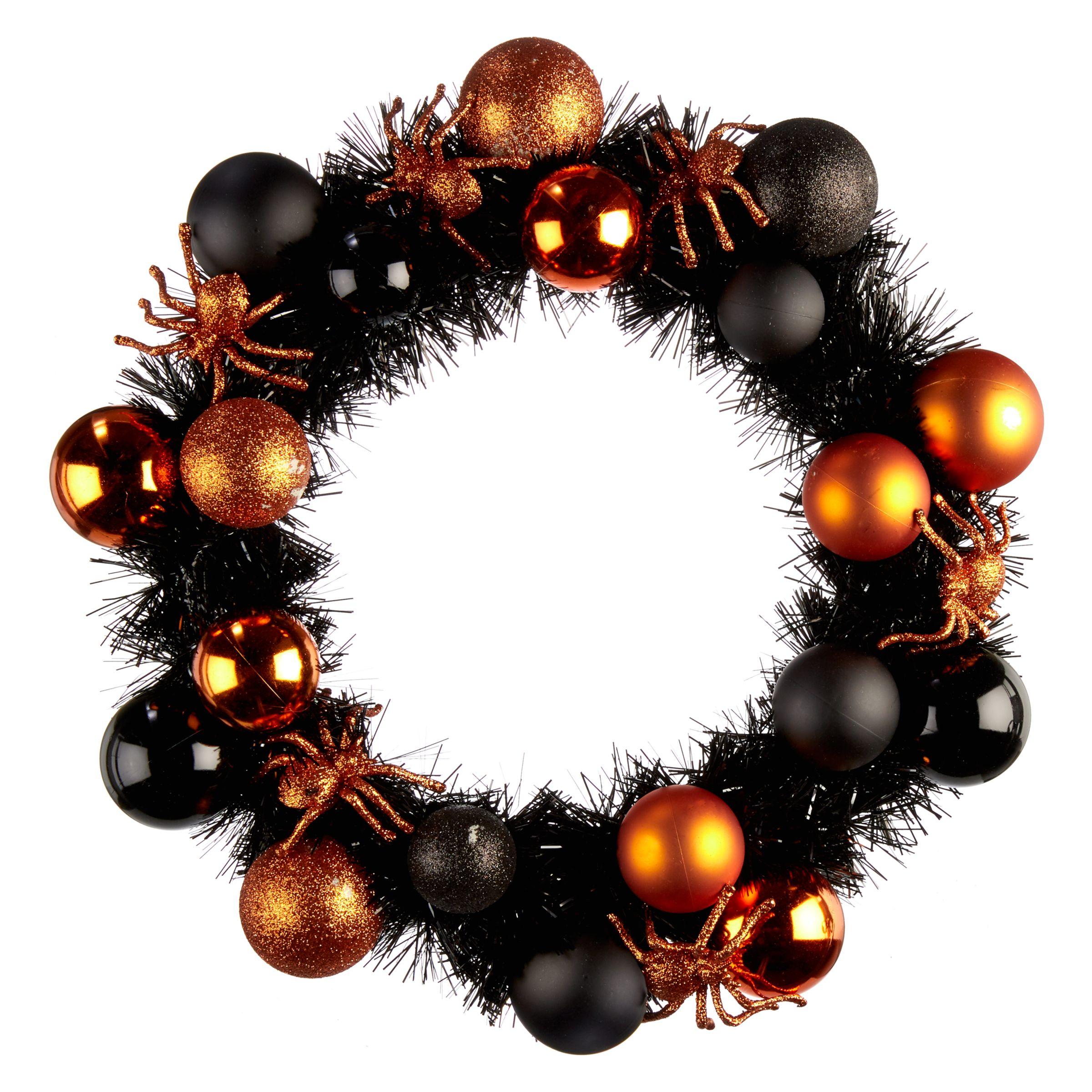John Lewis Halloween Black And Orange Wreath At John Lewis Partners