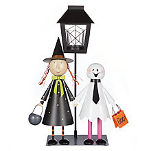 Buy Ghost And Witch Scene Tealight Holder, Multi Online at johnlewis.com