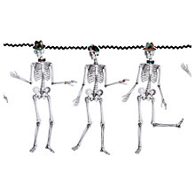 Buy Day Of The Dead Hanging Skeleton Garland, Off White/Multi Online at johnlewis.com