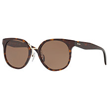 Buy Prada PR 17TS Square Sunglasses, Tortoise Online at johnlewis.com