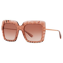 Buy Dolce & Gabbana DG6111 Stud Texture Outsize Square Sunglasses, Blush/Rose Gradient Online at johnlewis.com