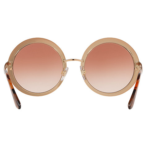 1792ab583cb0 Dolce And Gabbana Rose Gold Round Sunglasses | Green Communities Canada