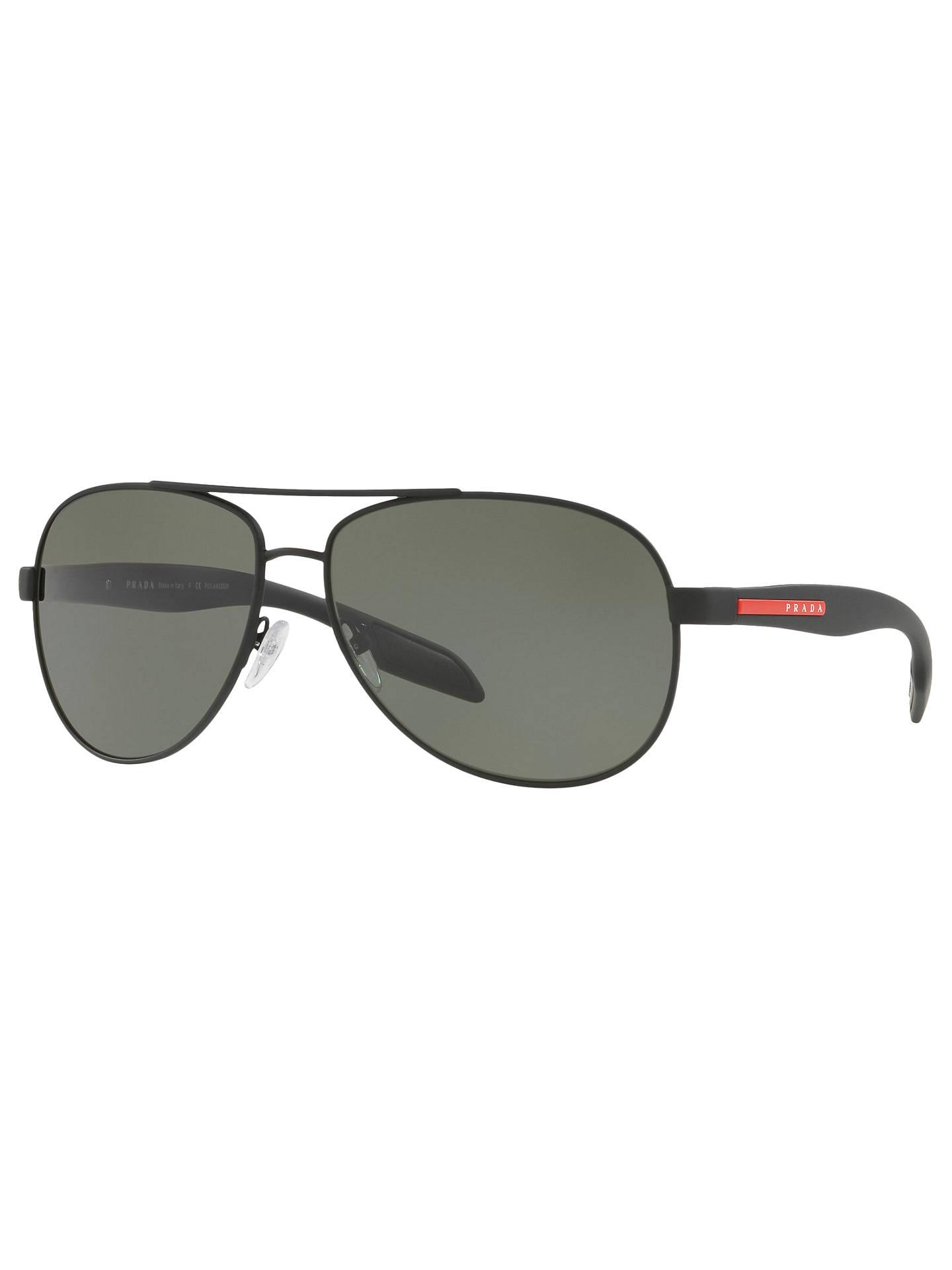 dccf6fe380 Prada Linea Rossa Silver Ps 53ps Benbow Pilot Sunglasses