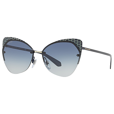 BVLGARI BV6096 Cat's Eye Sunglasses, Navy/Blue Gradient