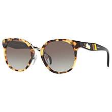 Buy Prada PR 17TS Square Sunglasses, Medium Havana/Grey Gradient Online at johnlewis.com