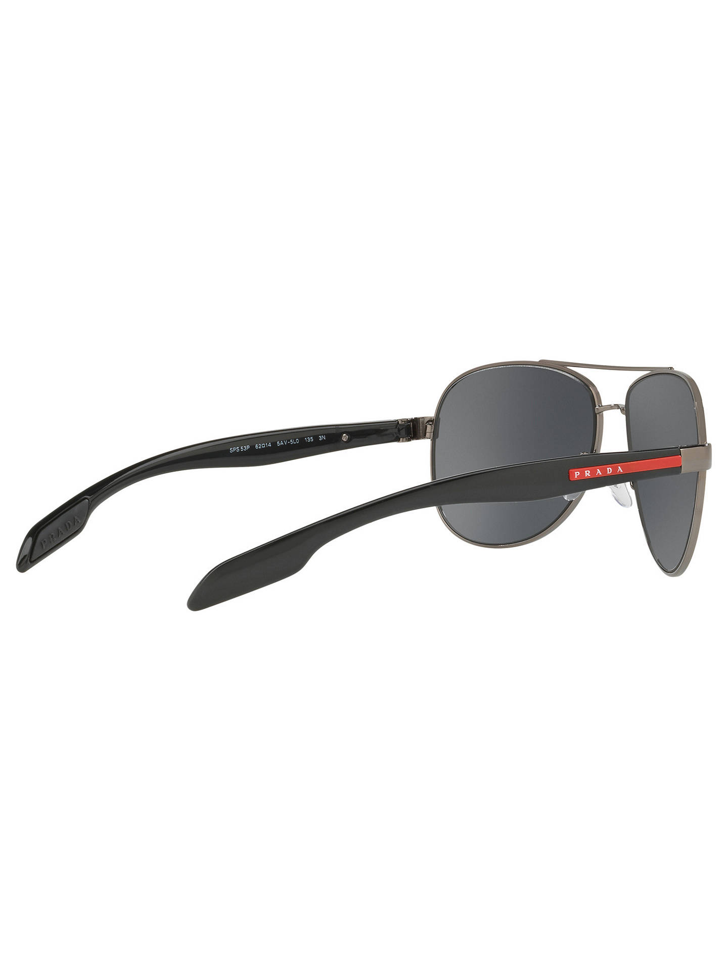 77966a63f7b ... cheapest buyprada linea rossa ps 53ps aviator sunglasses silver mirror  grey online at johnlewis. b8d64