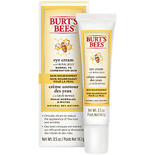 Buy Burt's Bees Skin Nourishment Eye Cream, 14.1g Online at johnlewis.com