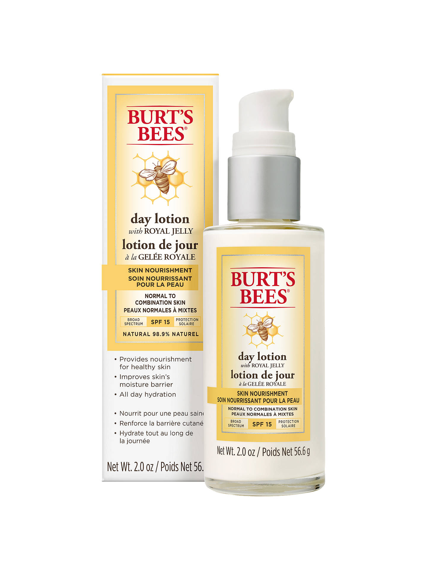 Buy Burt's Bees Skin Nourishment SPF 15 Day Lotion, 56.6g Online at johnlewis.com