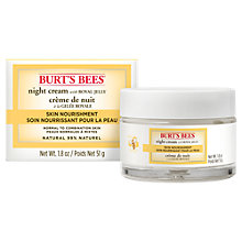 Buy Burt's Bees Skin Nourishment Night Cream, 51g Online at johnlewis.com