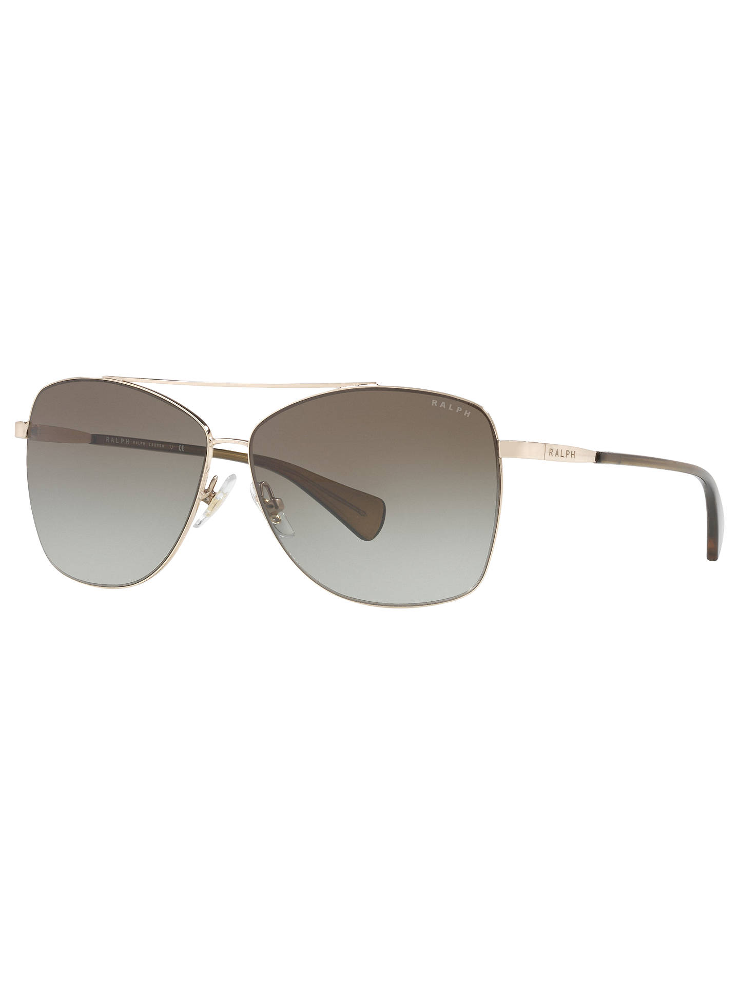 90abab1eaa5f Buy Ralph by Ralph Lauren RA4121 Aviator Sunglasses, Silver/Brown Gradient  Online at johnlewis ...