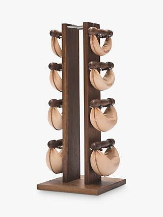 NOHrD by WaterRower Swing Bell Weights Tower Set, Walnut