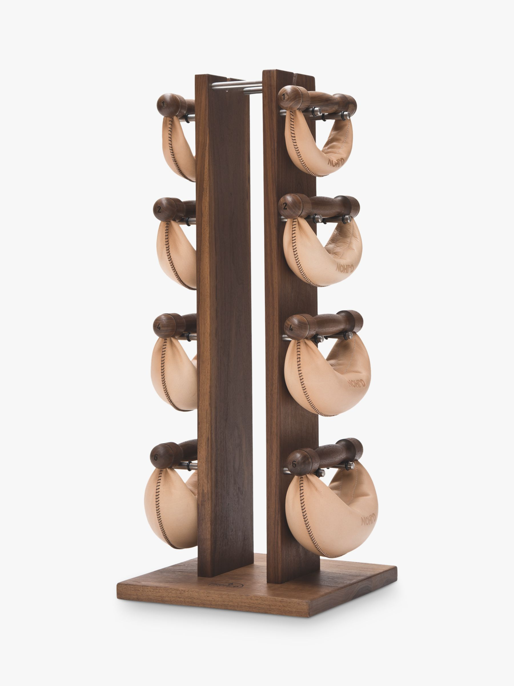 Buy NOHrD Swing Bell Weights Tower Set, Walnut Online at johnlewis.com