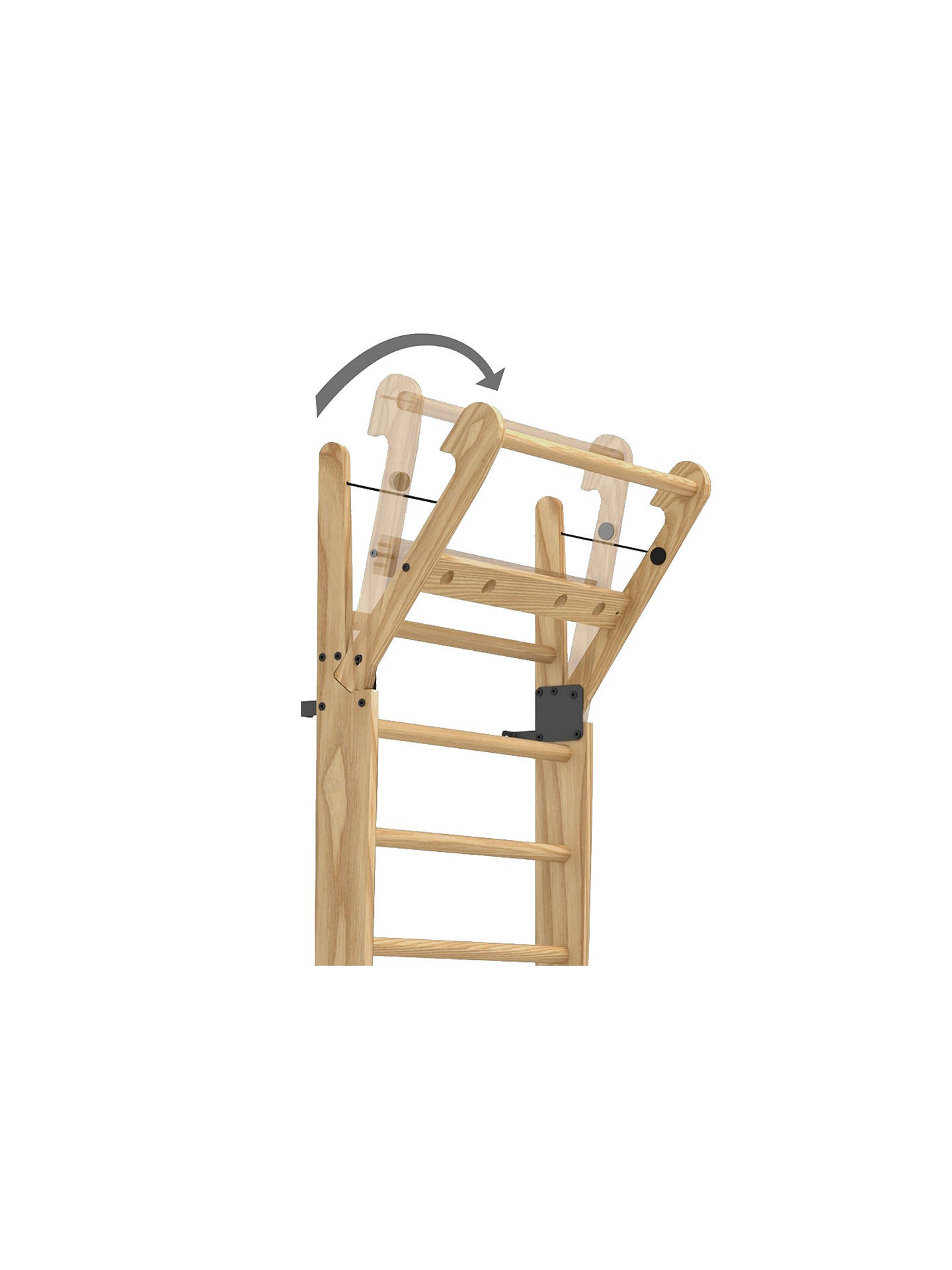 BuyNOHrD by WaterRower 14 Bar Wall Bars, Oak Online at johnlewis.com