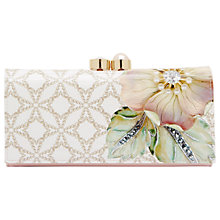 Buy Ted Baker Luka Gem Gardens Leather Matinee Purse, Ecru Online at johnlewis.com