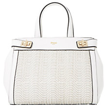 Buy Dune Damita Medium Structured Raffia Grab Bag Online at johnlewis.com