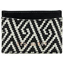 Buy Ted Baker Margene Woven Card Holder, Black Online at johnlewis.com