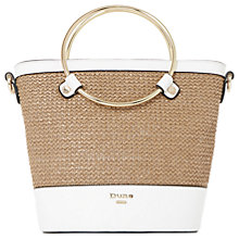 Buy Dune Dircle Raffia Detail Bucket Bag, Natural Online at johnlewis.com