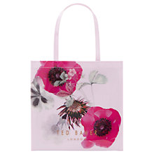 Buy Ted Baker Dimacon Neon Poppy Large Icon Shopper Bag, Nude Pink Online at johnlewis.com