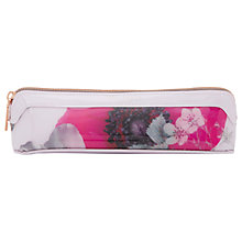 Buy Ted Baker Elbert Neon Poppy Pencil Case, Nude Pink Online at johnlewis.com