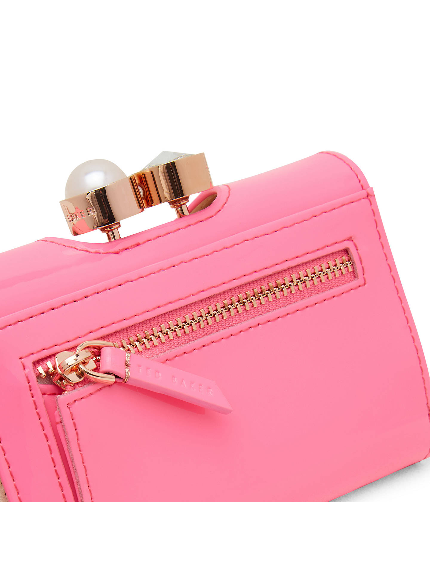 BuyTed Baker Alix Leather Patent Purse, Baby Pink Online at johnlewis.com