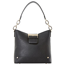 Buy Dune Druckle Buckle Detail Hobo Bag, Black Online at johnlewis.com