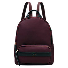 Buy Radley Harley Medium Zip Backpack, Burgundy Online at johnlewis.com