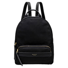 Buy Radley Harley Medium Zip Backpack, Black Online at johnlewis.com