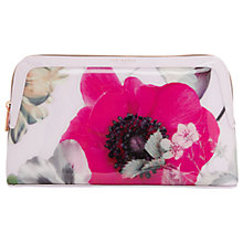 Buy Ted Baker Brooker Neon Poppy Wash Bag, Nude Pink Online at johnlewis.com