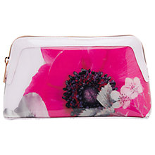 Buy Ted Baker Tzel Neon Poppy Small Wash Bag, Nude Pink Online at johnlewis.com