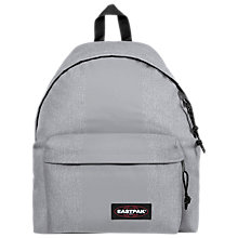 Buy Eastpak Padded Pak'r Backpack, Grey Rubber Online at johnlewis.com