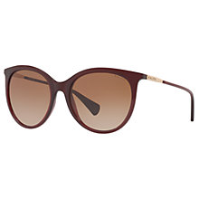Buy Ralph RA5232 Cat's Eye Sunglasses, Maroon/Brown Gradient Online at johnlewis.com