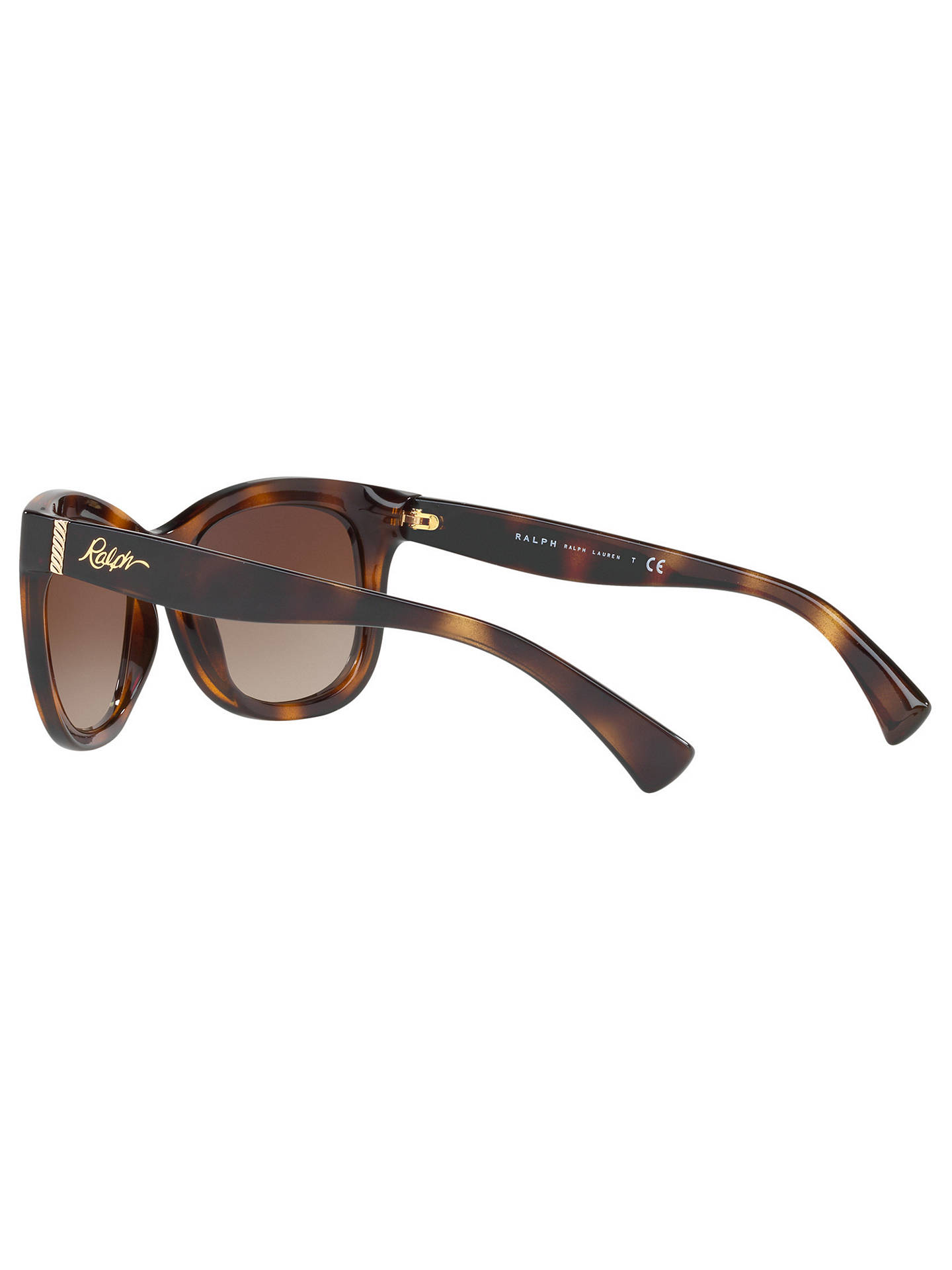 Buy Ralph RA5234 Square Sunglasses, Tortoise/Brown Gradient Online at johnlewis.com